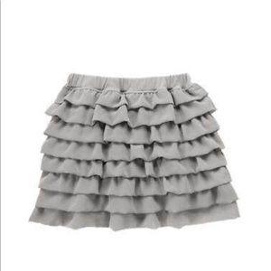 Gymboree grey tiered girl skirt. Sz.3T